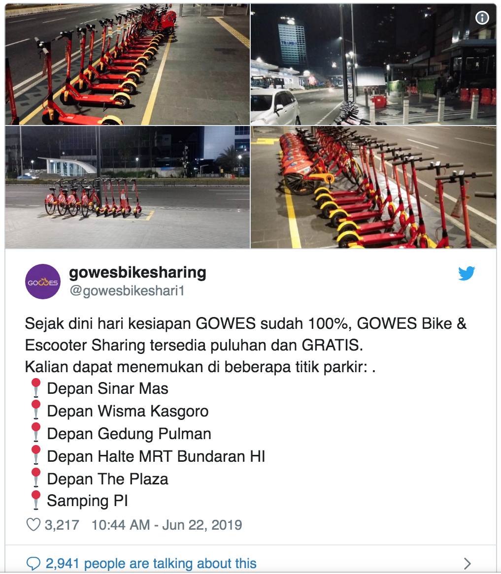 Bike sharing app expands from Monas to Jl  Thamrin – Gowes Milestone